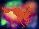 Foxy flies by IvyCosmosArt