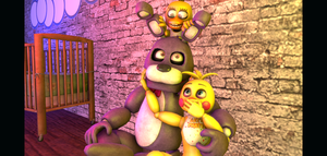 Bonnie and ToyChica [REQUEST 1] by GamesFarkas