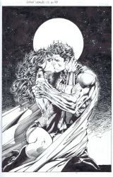 Superman/Wonder Woman-The Kiss by INKIST