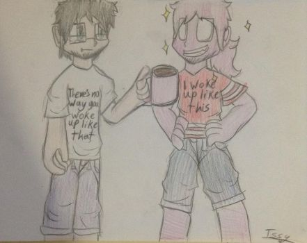 Draw your otp in these shirts by IssyInked