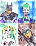 Batman Universe Sketchcards by FG-Arcadia