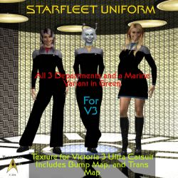 TrekkieGal: Starfleet Uniform for V3 Catsuit by TrekkieGal