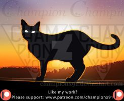 The Cat Of The Solar Eclipse by Championx91