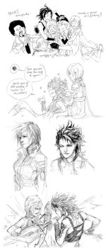 FF13 doodles by zuqling