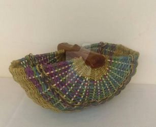Rainbow Shell Basket by Tamuril2