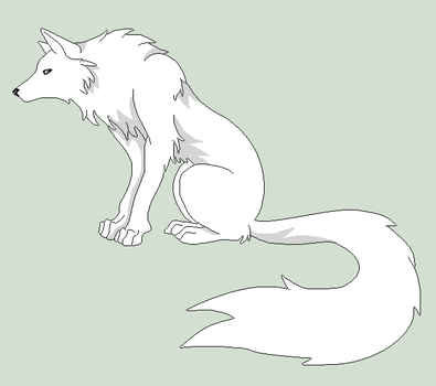 Original Base - Wolf Lineart by Shadow-Bases