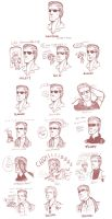 re - wesker emotion sheet by spoonybards