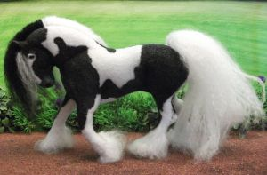 OOAK felt fabric commission order Vanner Cob by Tawneyhorses