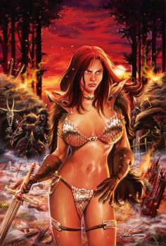 Red Sonja Cover Sample by RodGallery