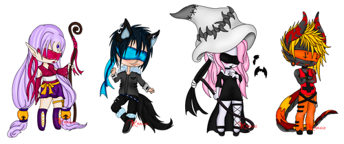 Fantasy Chibi Adopts (Open) by ChaoticallyKhaos