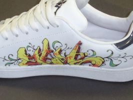 graffitied shoes by sirius06