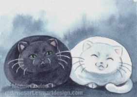 Fat Cats ACEO by Pannya
