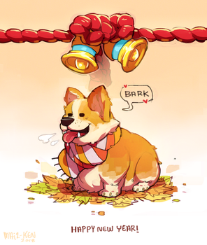 New years doggo by MayzKen