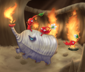 Red Pikmin! by Kippette