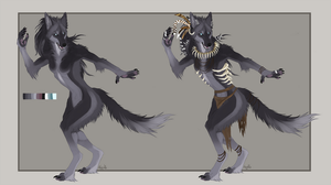 Anthro wolf ACUTION -CLOSED- by Kay-Ra