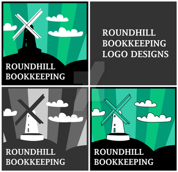 Logo Designs - Roundhill Bookkeeping - quad by quixoticduck