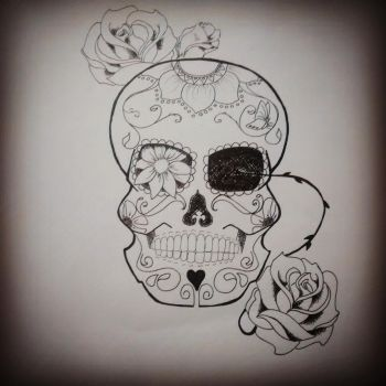Sugar Skull by leesuhhjayy