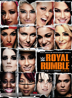 WWE Royal Rumble Poster 2011 with women's 2018. by Erick11Editions