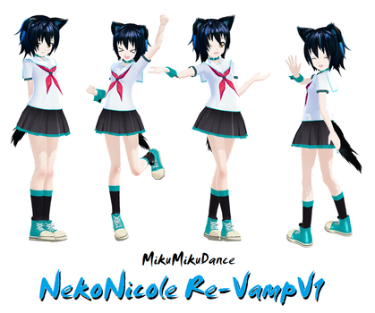 MMD Model: NekoNicole Re-Vamp by xNeonPistolx