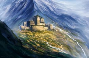 The castle of Mount Taldris by neylica