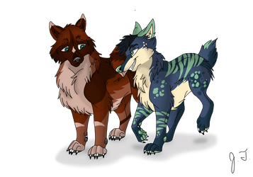 Trade - Canine Pictures - Alec and Jett by joshbluemacaw