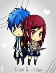 PC: Erza and Jellai by irask
