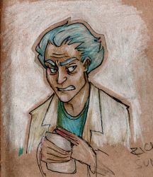 Rick scetch by LeenaKill