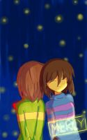 chara/frisk undertale by laicy-skel