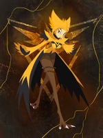 Lady Zapdos by Tapwing
