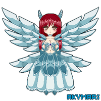 Erza Scarlet - Heavens Wheel Armor Pixel Doll by Akymari