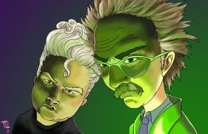 Dr. Forrester and T.V.'s Frank by MeaT-Artworx