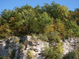 Autumn Cliff Stock Scenery 01 by FantasyStock