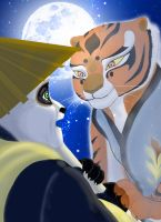 Kung fu panda - Po and Tigress - I miss you by Miranh