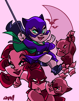CHIBI GOLDEN AGE CATWOMAN by AnyaUribe