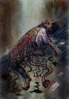 Dunwich Horror- The death of Wilbur Whateley by eitherangel
