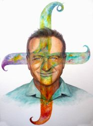 Robin Williams: a Colorful Man by paintedmonke