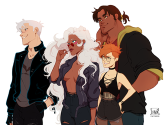 Voltron rock band au by DJune-y