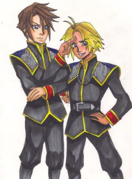 Squall and Tidus-- SeeD by NinjaYuuki