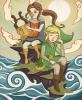Link and Medli by MagpieKid