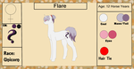 Flare {Reference Sheet+ Bio} by ScarletsFeed