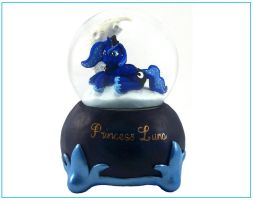 PRINCESS LUNA SNOW GLOBE Custom Sculpture FIM 4 by MadPonyScientist