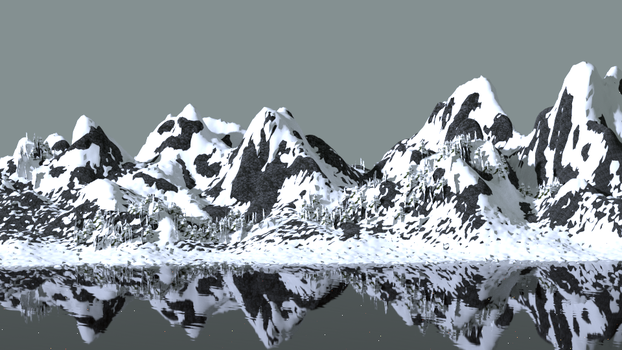 snowy mountains by shaeesta