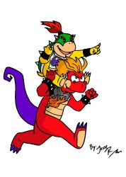 Hooktail Jr and Bowser Jr by DragonTeens