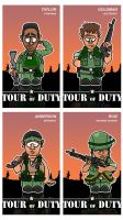 Charicatures Tourofduty Tradingcards Set by njelspam