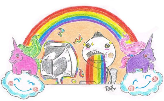 Puking rainbow!!! by The-TND