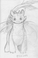 Toothless (sketch) by Sillageuse