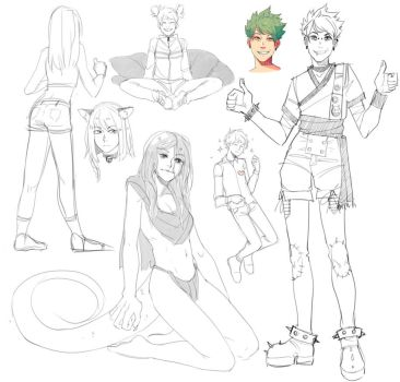 Sketches 6 by kos-tyan