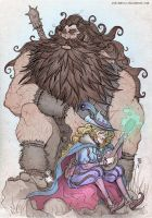 The Giant n' The Bard - colour by Fuelreaver