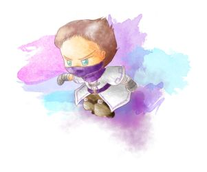 Watercolour Test - Chibi Rythian by lillilotus