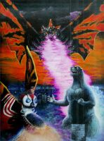 Godzilla and Mothra by RussellMcGee1977